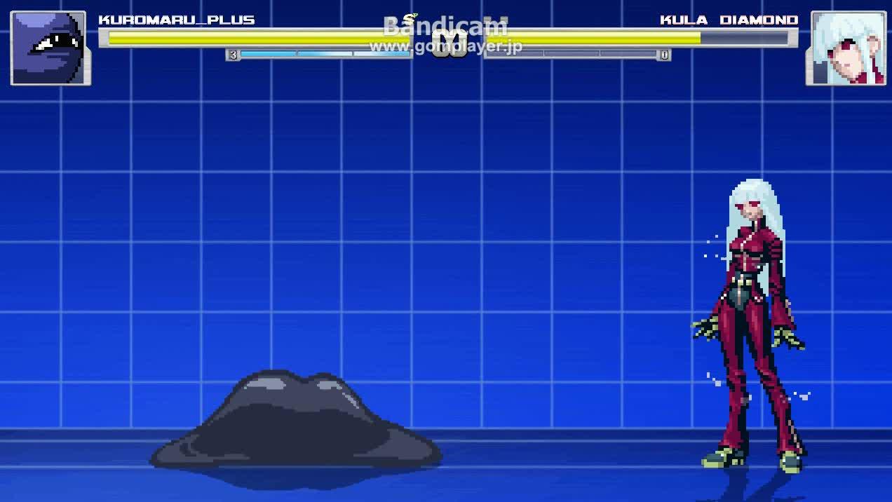 【MUGEN】kuromaru vs kula test - エロ動画 アダルト動画